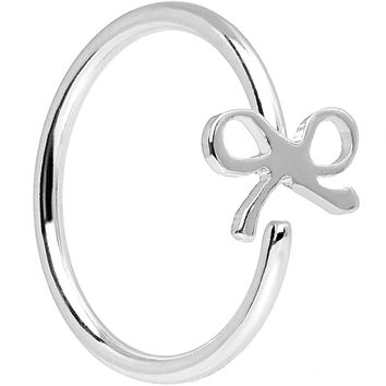 "20 Gauge 5/16"" Stainless Steel Girly Bow Nose Hoop"