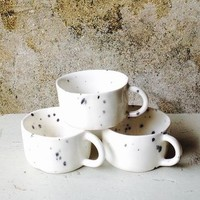 Handmade Porcelain Splatter Coffee Cup