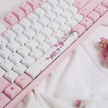 Varmilo VA108M Sakura Pink (Magenta) LED Dye Sub PBT Mechanical Keyboard (Brown Cherry MX)
