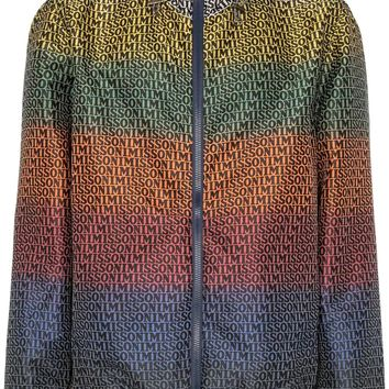 Multicoloured Logo Print Windbreaker Jacket by Missoni