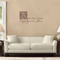 And they lived happily ever after  Wall Decal by tweetheartwallart