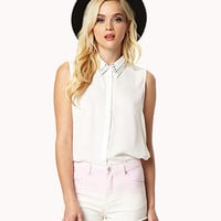 Studded Georgette Shirt | FOREVER 21 - 2048127384