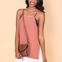 Wanderlust Striped Tank Top Dress