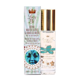 LUCY B.'S ROYAL WATER LOTUS & VANILLA MUSK ROLL-ON PERFUME