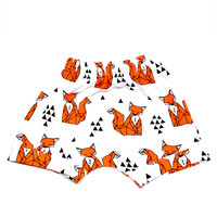 Orange Fox Harem Shorts