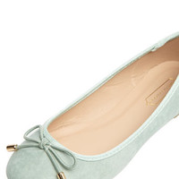 Mint Round Toe Bow Pumps
