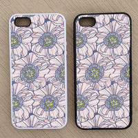 Floral Pattern iPhone Case, iPhone 5 Case, iPhone 4S Case, iPhone 4 Case - SKU: 129