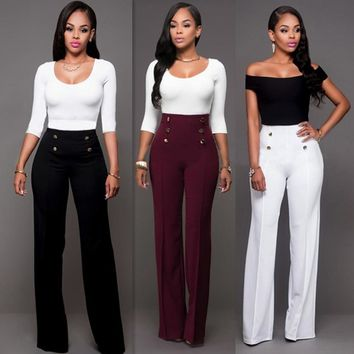 Womens Stylish Fashion Wide Leg Pants