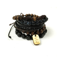 5 Stack in Black and Brown