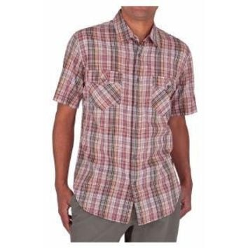 Royal Robbins Men's Clutch Plaid Short Sleeve Shirt, Henna, X-Large