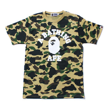 1ST CAMO COLLEGE TEE Yellow