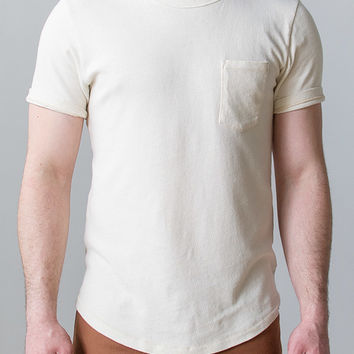 The West is Dead Oatmeal Pocket Tee [Men's Oatmeal Pocket Tee] : ORN HANSEN, Vintage + American Made General Store