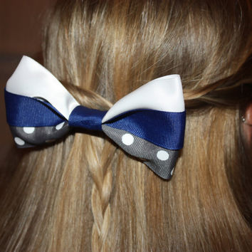 Dallas Cowboys Hairbow Blue/White/Gray