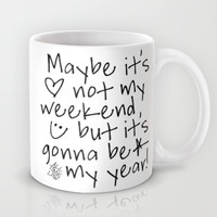 Maybe It's Not My Weekend But It's Gonna Be My Year All Time Low Lyrics Mug by andrialou