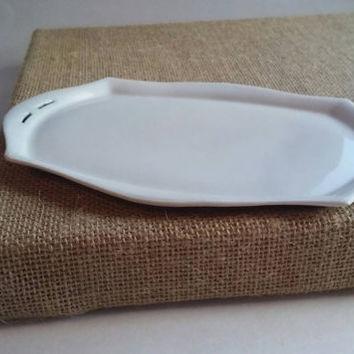 Antique dresser tray, white ware, C.T Alt Wasser.