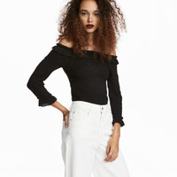 Smocked Off-the-shoulder Top - from H&M