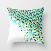 Colorful Throw Pillow - Green Funfetti - Neon