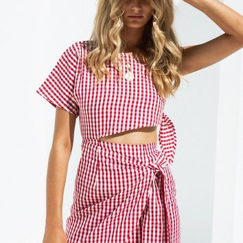 Bailey Gingham Dress - Dresses by Sabo Skirt