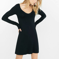 Long Sleeve V-neck Trapeze Dress from EXPRESS