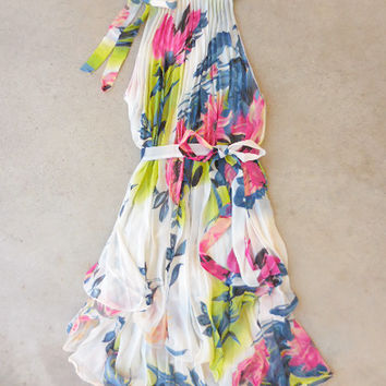 Floral Charming Party Dress [6944] - $36.00 : Feminine, Bohemian, & Vintage Inspired Clothing at Affordable Prices, deloom