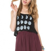 Brandy ♥ Melville |  Mirella Moon Tank - Graphic Tops - Clothing