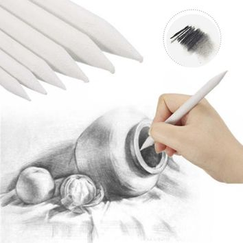 6pcs/set Durable Art Drawing Tool Stump Sketch Pastel Blending Smudge Tortillon Rice Paper Gifts Party Favors