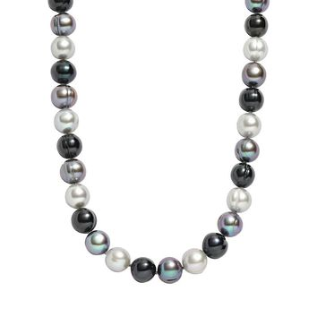 Freshwater by Honora Dyed Freshwater Cultured Pearl Sterling Silver Necklace (Pearl/Silver/Gray)
