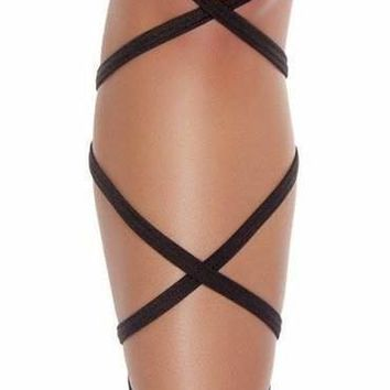 Roma USA Dancewear Pair of Leg Strap with Attached Thigh Garter