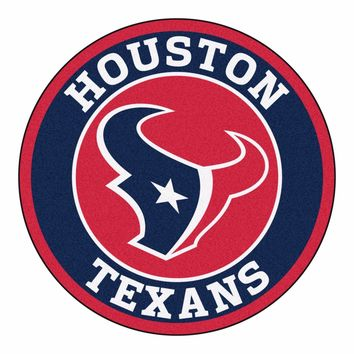 "Houston Texans 27"" Roundel Area Rug Floor Mat"