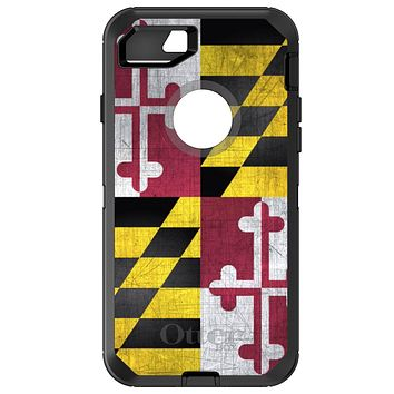 DistinctInk™ OtterBox Defender Series Case for Apple iPhone or Samsung Galaxy - Old Weather Maryland Flag