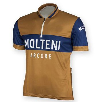 2018 mens retro Molteni cycling jersey summer team cycling clothing bicycle wear roupas ciclismo maillot velo