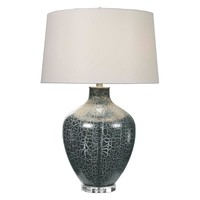 Zumpano Crackled Gray Table Lamp