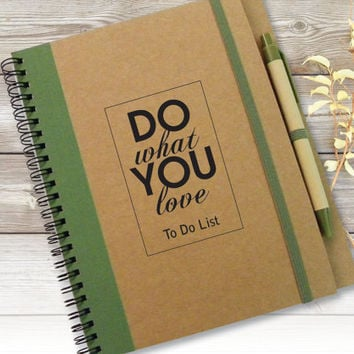 Custom Quote Journal, Notebook, Gift Idea, Customized Journal, Personalised Notebook, To Do List Notebook, Writing Journal, Spiral Notebook