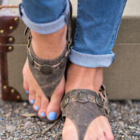 Wild Side Bohemian Studded Leather Sandal