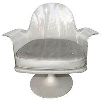 Lucite Swivel Chair