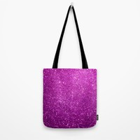 Purple Glitter Shiny Sparkley Tote Bag by WonderfulDreamPicture