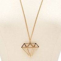 CAGED DIAMOND PENDANT NECKLACE