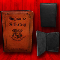 Harry Potter Hogwarts A History Leather Nook Color and Nook Tab Book Cover Case
