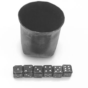 Dice Cup, Hand Forged Dice and Cup, Metal Dice, Forged Cup, Hand Forged Dice Cup, Game, Viking Games