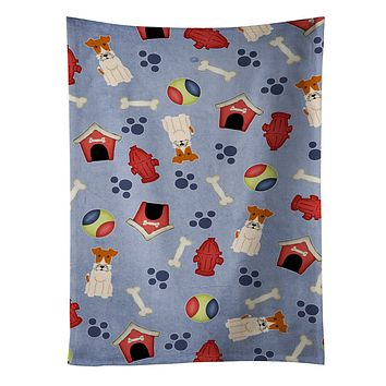 Dog House Collection Wire Fox Terrier Kitchen Towel BB2714KTWL