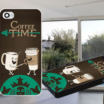 coffee time adventure time Case for iPhone 4,iPhone 4S,iPhone 5,iPhone 5S,iPhone 5C,Samsung Galaxy S2 / S3 / S4