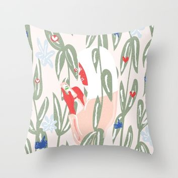 Planting The Social Life Throw Pillow by chotnelle