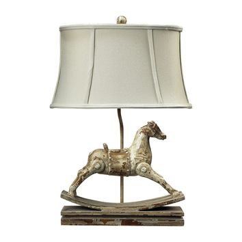 Carnavale Rocking Horse Table Lamp in Clancey Court Finish Clancey Court