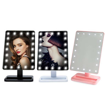 20 LED Makeup Mirror Health Beauty Cosmetic Make Up Illuminated Light Mirrors Desktop Stand Exquisite And Elegant Appearance