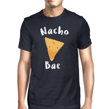 Nocho Bae Mens Navy T-shirt Funny Quote Trendy Graphic Tee For Guys