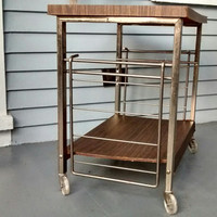 Bar Cart, Office Cart, Rolling Cart, Plant Stand, Book Shelf, Vintage, Mid Century Modern