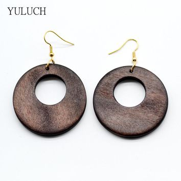 latest african wood earrings jewelry pair 2016 good quality new design   handmade