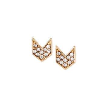 Chevron Crystal Stud Earrings - Jules Smith