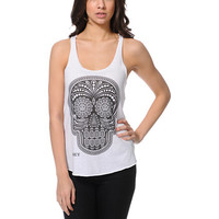 Obey Day Of The Dead White Racerback Tank Top at Zumiez : PDP