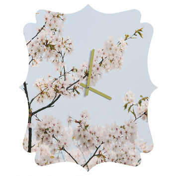 Catherine McDonald Cherry Blossoms In Seoul Quatrefoil Clock